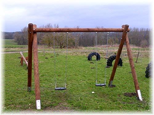LoggyLand 9691 Doppelschukel aus Lärchenholz