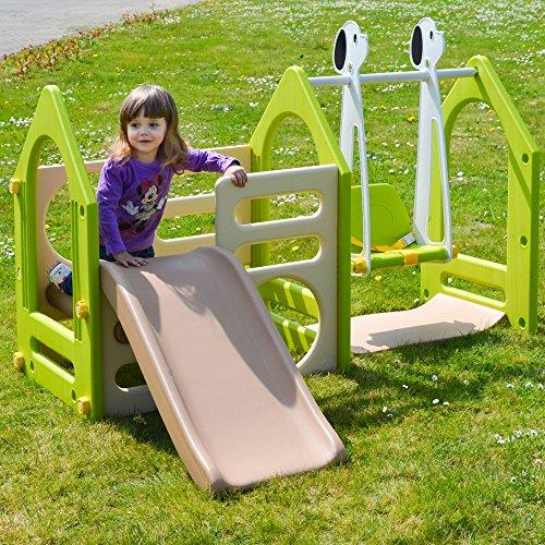 LittleTom Kinder Spielhaus mit Rutsche - 3