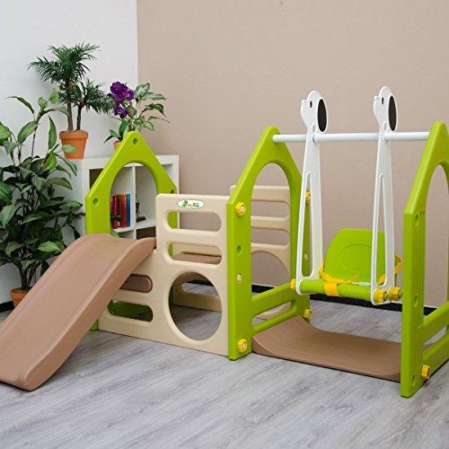 LittleTom Kinder Spielhaus mit Rutsche - 4