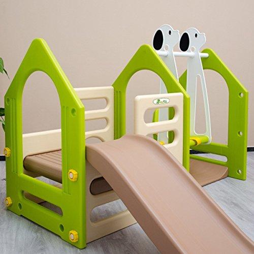 LittleTom Kinder Spielhaus mit Rutsche - 5