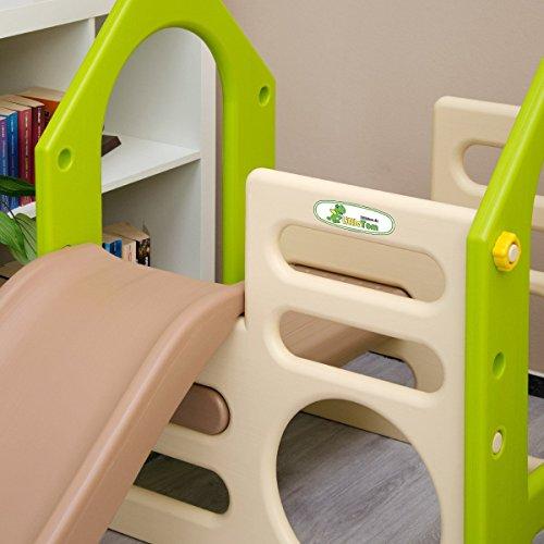 LittleTom Kinder Spielhaus mit Rutsche - 7