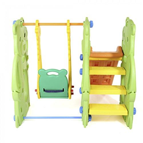 BABY VIVO Kinderschaukel mit Rutsche - 4