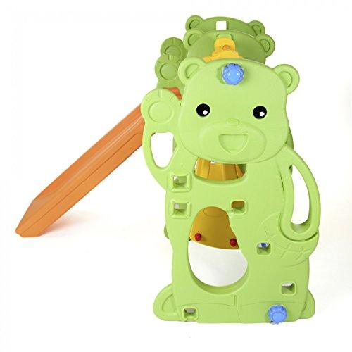 BABY VIVO Kinderschaukel mit Rutsche - 5