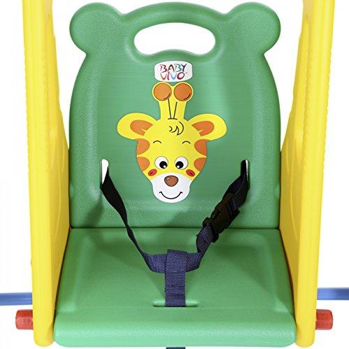 BABY VIVO Kinderschaukel mit Rutsche - 7