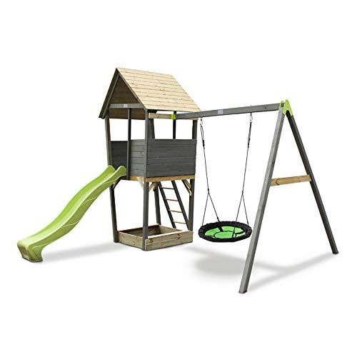 EXIT Aksent Spielturm mit Nestschaukel
