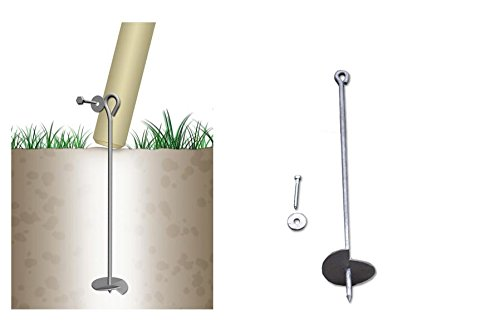 Bodenanker eindrehbar für Schaukel etc. 60 cm verzinkt von Gartenpirat® - 3