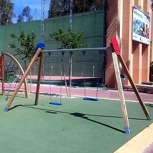 Doppelschaukel für öffentliche Spielplätze & Einrichtungen - 3
